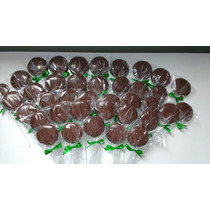 Pirulito De Chocolate Ao Leite - 12 Unidades