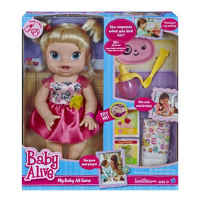 Baby Alive Boneca Hora De Comer Loira Faz Coco Xixi Hasbro