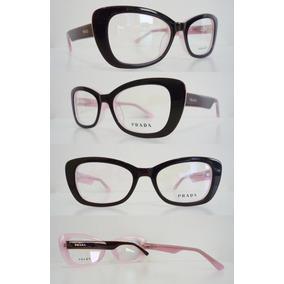 Armação Óculos De Grau Prada Acetato Gatinho Fashion