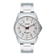 Relógio Orient Prata Masculino Mbss1154a S2sx Aço Analógico