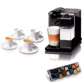 Cafetera Nespresso Lattissima Black + 4 Tazas+ Cápsulas Cafe