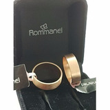 Par Aliança Rommanel Casamento Folh Ouro 18k - Mega Promo