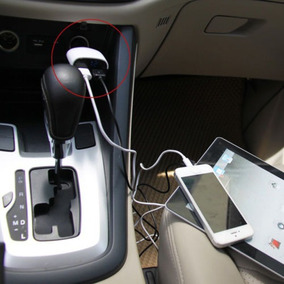 4 In 1 Dc5v / 3.4a Led Cargador De Coche Usb Doble Pantalla