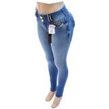Calça Jeans Afront Estilo Pit Bull Com Lycra Strass Ref 148