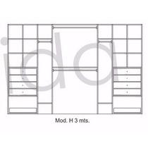 Modulo Interior De Placard H 3mt 6 Colores A Elección!