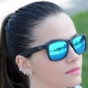 Óculos Wayfarer Preto Fosco, Lente Azulada, Azul ,ban - Óculos De ... 3b06b155b1