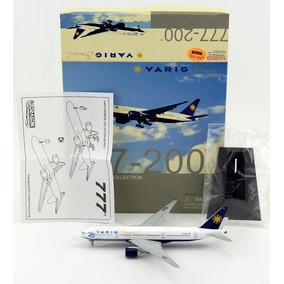 Maquete/miniatura Avião Boeing 777-200 Varig