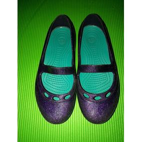 Crocs Originales Guillerminas Ballerinas Talle C11-27 Usada
