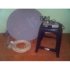Antena Movistar Tv Con Decodificador Y Cables Plan Activo