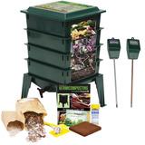 Bote De Compostaje Compost + Medidor De Humedad Y Ph Meter