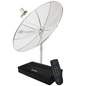 Antena Parabólica 1,70 M + Receptor Analógico - Cromus