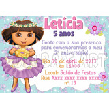 Arte Digital Convite Dora Aventureira Princesa Bailarina
