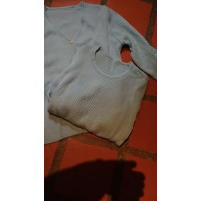 Conjunto Chaleco Escote V Y Sweter Escote Redondo , Tejido