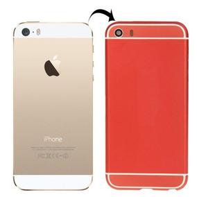 Cubierta Full Metal Apariencia Imitacion Para Iphone 6 Rojo