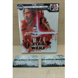 The Last Jedi Star Wars Steelbook 4k Blu Ray Película Stock