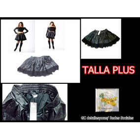 Mini Falda De Cuero Negra Para Las Gorditas Talla Plus