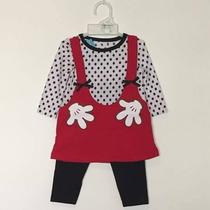 Remera Vestido Manga Larga C/ Calzas Minnie