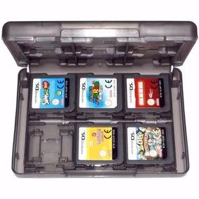 Estojo Case Nintendo 2ds 3ds Ds Caixa Porta Fita 24 Cartucho