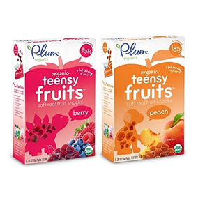 Ciruela Organics Teensy Frutas Paquete: 1 Caja De Cada Uno D
