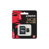 Memoria Micro Sd Kingston 16gb Clase 10 4k