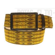 Cinturon Vaquero Cintillas Tiras Vaqueta Color Miel