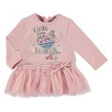 Vestido Con Tul Mayoral Para Bebé Niña Est. 2948 Rosa Petalo