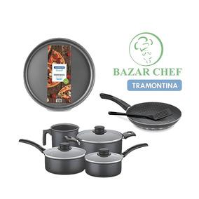 Set Bateria Tramontina + Pizzera Sarten - Bazar Chef