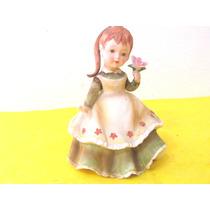 Muñeca Porcelana Japonesa Fechada Adorno Deco