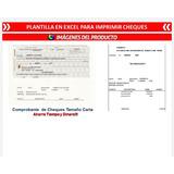 Plantilla Excel Para Imprimir Cheques Control Bancos