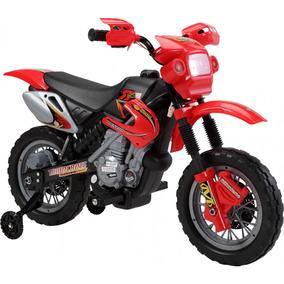 Moto Elétrica Infantil Motocross Vermelha 6v Bel