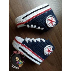 Zapatos Tejidos Bebé Tipo Converse