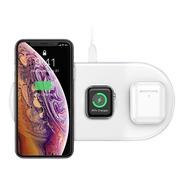 Cargador Inalambrico Qi 3 En 1 Apple Airpords iPhone