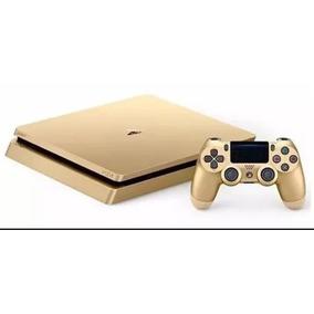 R$ 1.800- Ps4 Dourado Slim,1tb Gold