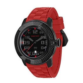 Glam Rock Hombre Reloj Rojo Silicon Watch Gr Sobe