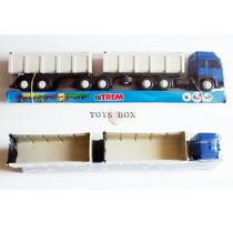 Miniatura Carreta Bitrem Caçamba - Caminhão Brinquedo