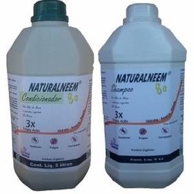 Shampoo Natural + Condicionador Neem Nim Carrapatos E Pulgas
