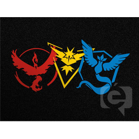 3 Adesivos Pokemon Go Team Mystic Instinct Valor