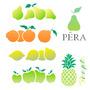 Kit De Stencil Tema Frutas Com 6 Modelos