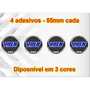 4x Adesivos Roda Rays Volk, Calota Central, Center Cap 55mm