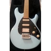 Remato Guitarra Sterling Musicman Silo 3 Azul Con Hardcase