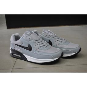 Kp3 Zapatos Nike Air Max 90 Gris Para Caballeros
