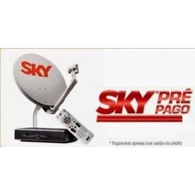 Kit Completo Receptor Sky Pré Pago + Antena Sky + 17m Cabo.