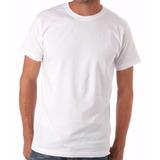 Kit 10 Camisetas Lisas Brancas100% Algodão Fio 30 Penteado