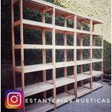 Estanteria Rustica Hogar Muebles Y Jardin En Mercado Libre Argentina - Estanterias-rusticas-de-madera