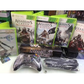 Console Xbox Super Slim Travado Completo 5 Jogos Originais