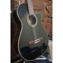 Guitarra Electrocriolla Fonseca 41 Kec 41kec Negra Stock!