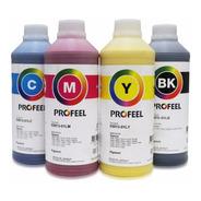 Tinta Pigmentada Profeel Para Epson 4 Refil  250ml