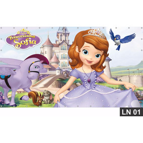 Princesa Sofia Painel 2,00x1,00m Festa Banner Aniversário