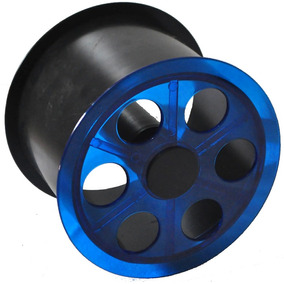 Mini Carretilha De Acrílico 15 Cm Para Pipa - Azul