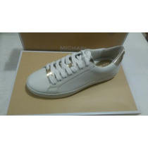 Michael Kors Irving Lace Up Lether Color Blanco